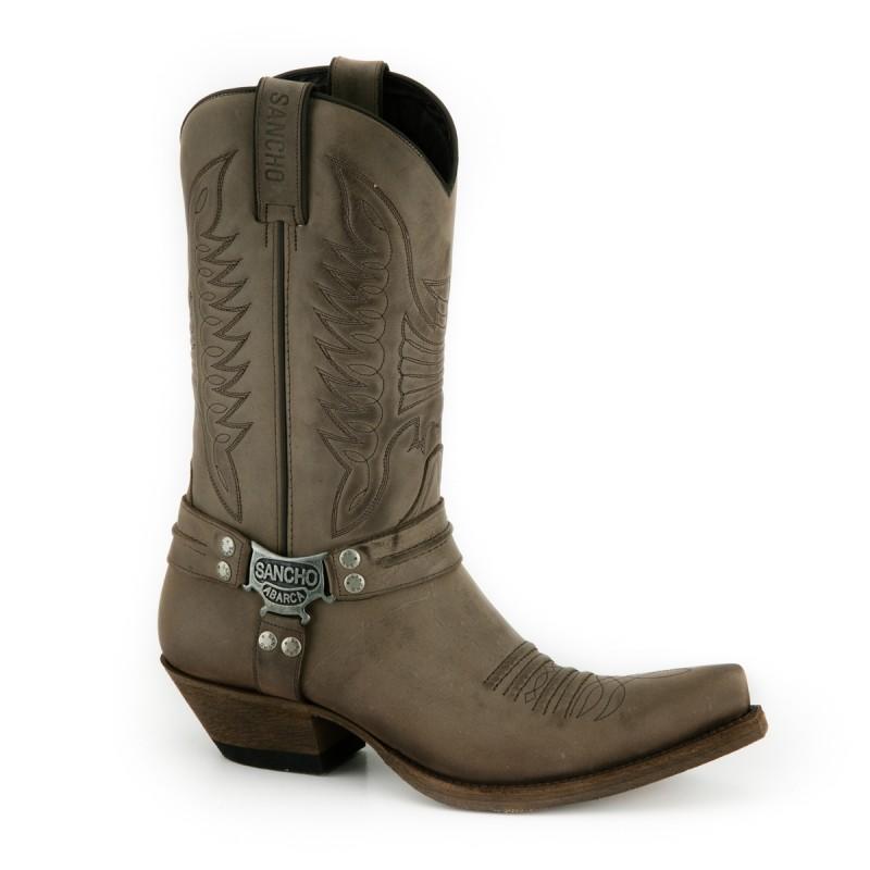 f0feba2c2f Sancho Abarca 9931 Herren Cowboy Stiefel - Nairobi Ceniza braun